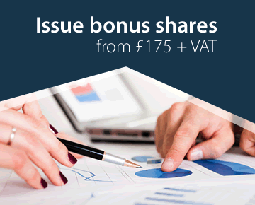 Issue new shares from only £135 + VAT